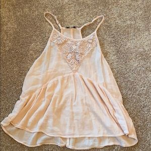 American Eagle pink lace tanktop